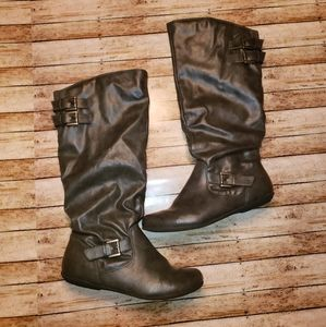 Rampage grey slouch boots